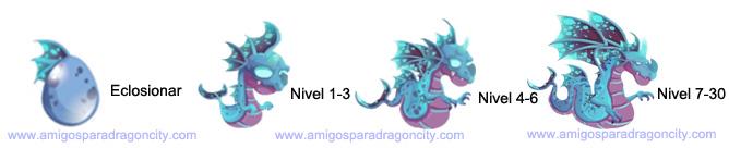 imagen del crecimiento del dragon luminiscente