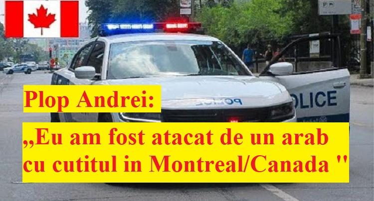 La ora 17:25 am fost atacat de un arab cu cuțitul pe Côte-des-neiges st./ Montreal