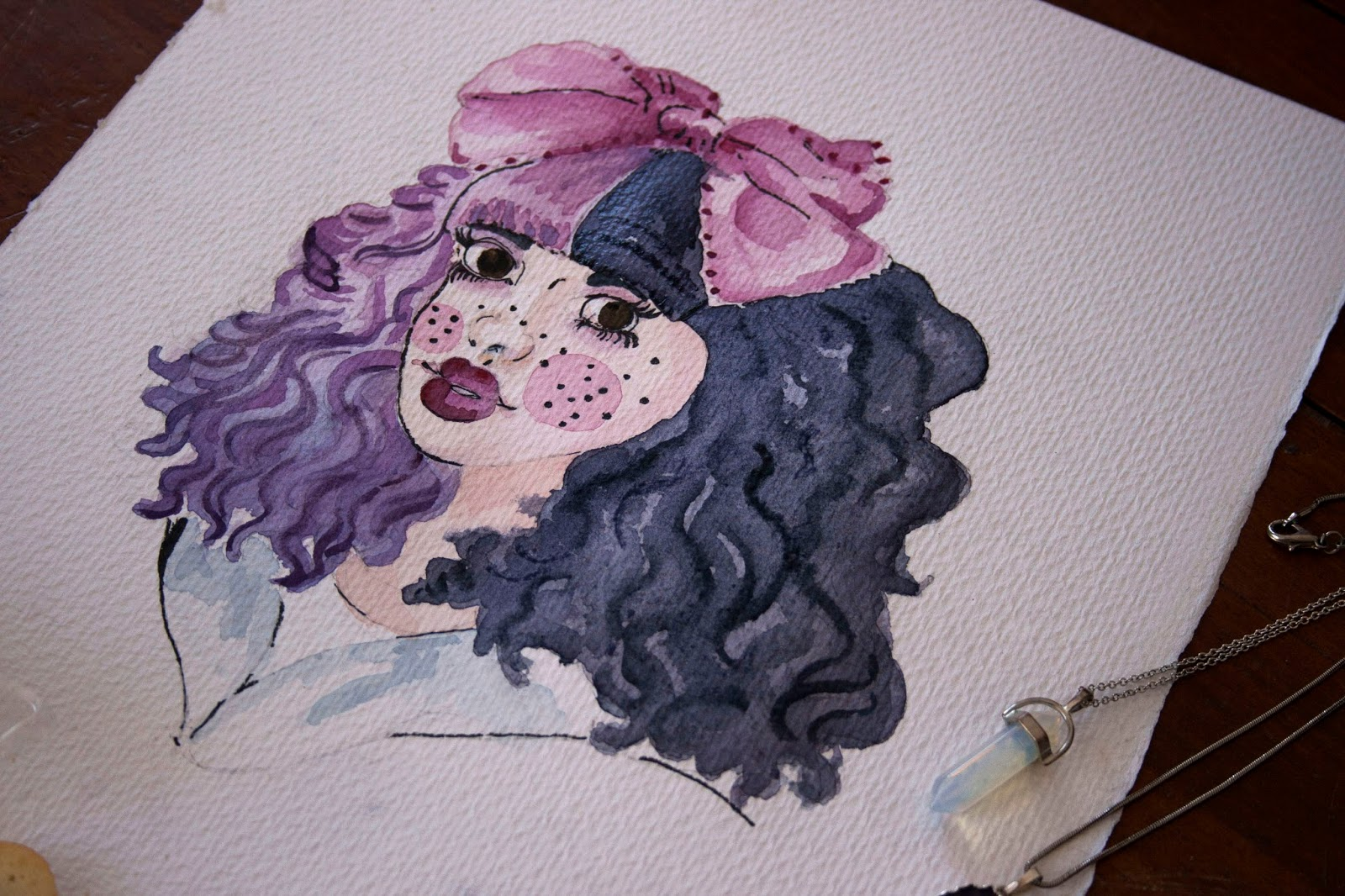 Ilustracion-acuarela-melanie-martinez-dollhouse