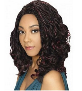 Zury Sis Afro Braid Lace Front Wig Swirl