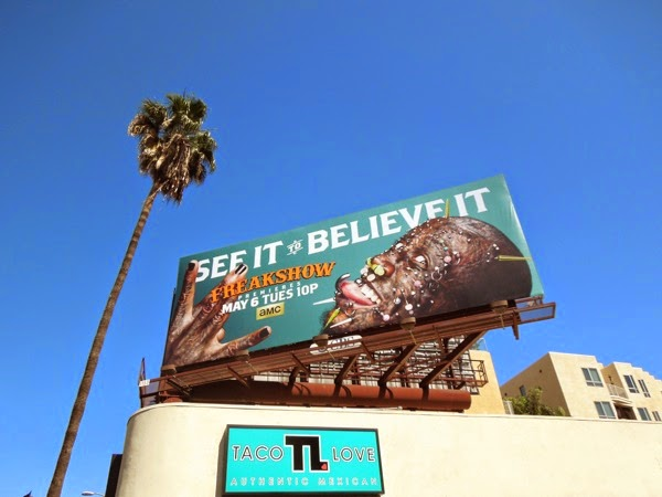 Freakshow season 2 Creature pierced man billboard