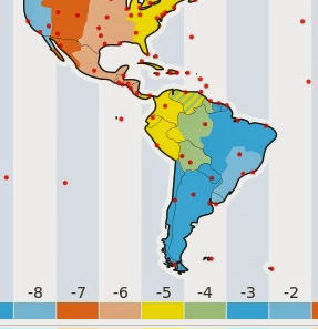 Hispanoamérica New Year Map