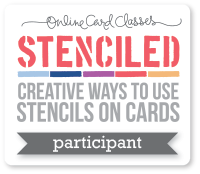Stenciled Online Card Classes