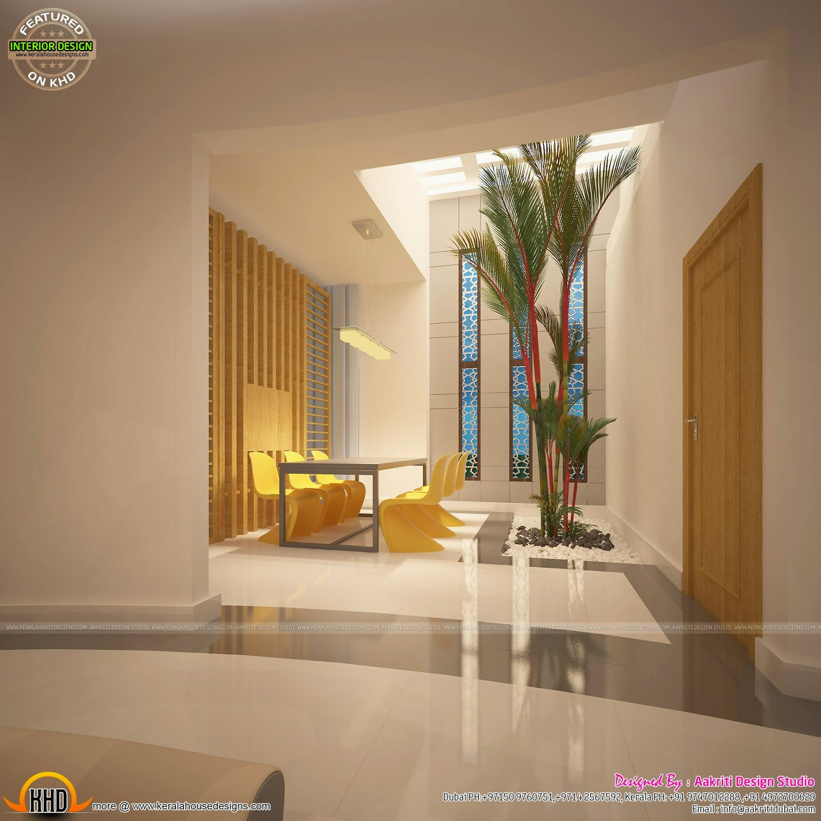 Awesome interiors of living kitchen and bathroom kerala for Living room interior in kerala
