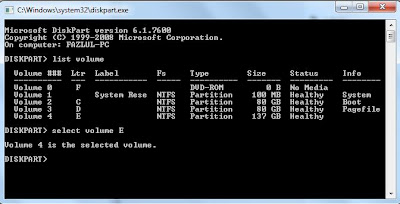 How to Hide any Local Drive using Command prompt