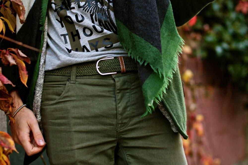Ceinture tressée cuir leather belt blog mode homme mensfashion