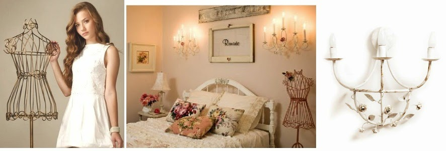 quarto menina provençal vintage