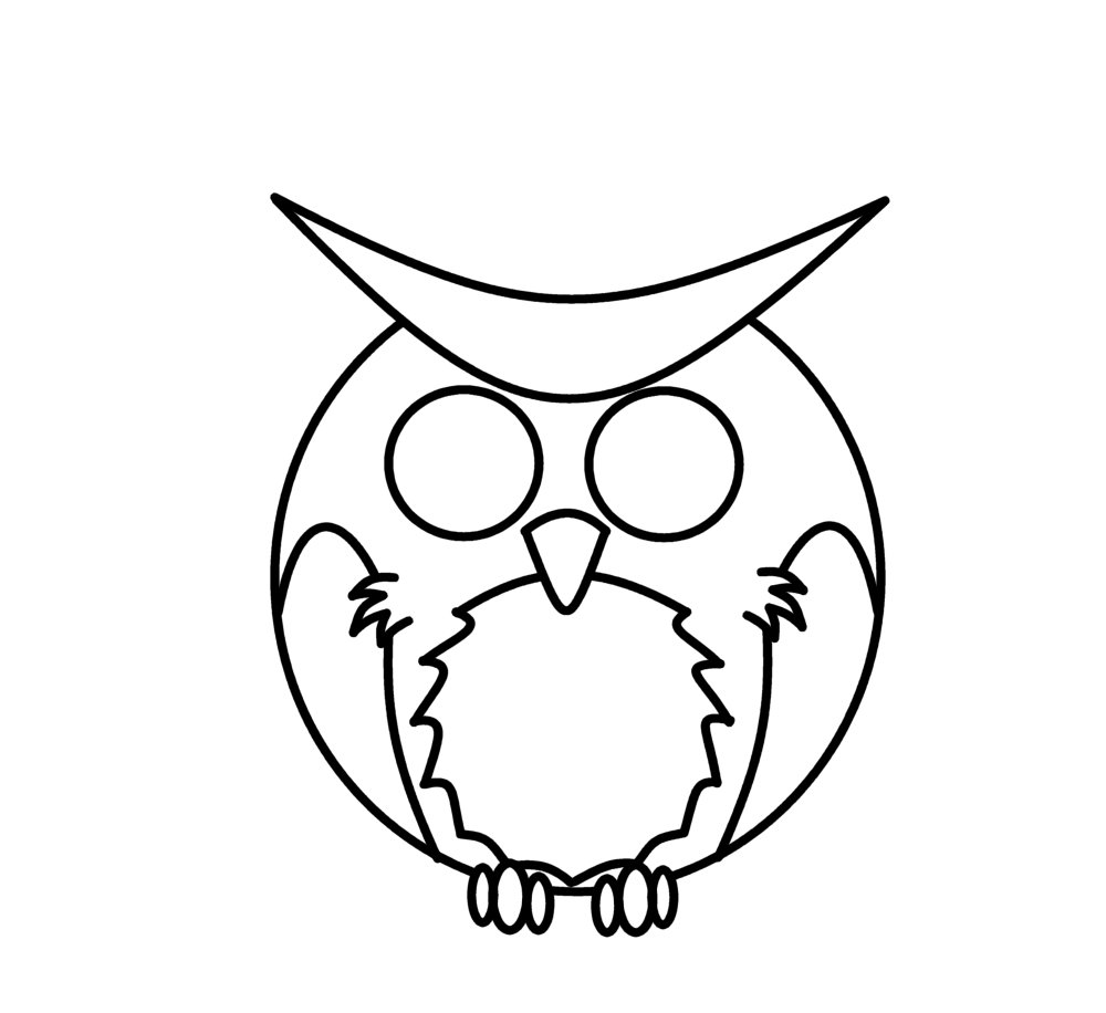 How to draw owl for Cartoon owl sketch