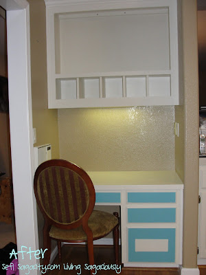 painted custom hutch and desk