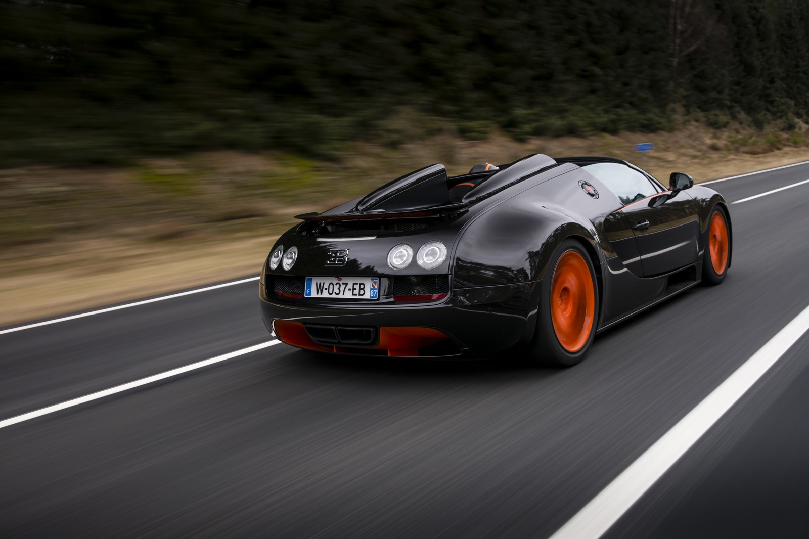 all cars nz 2013 bugatti veyron gs vitesse sets new open top speed record at 409kmh 254mph. Black Bedroom Furniture Sets. Home Design Ideas
