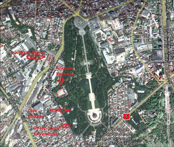 parcul Carol vedere din satelit