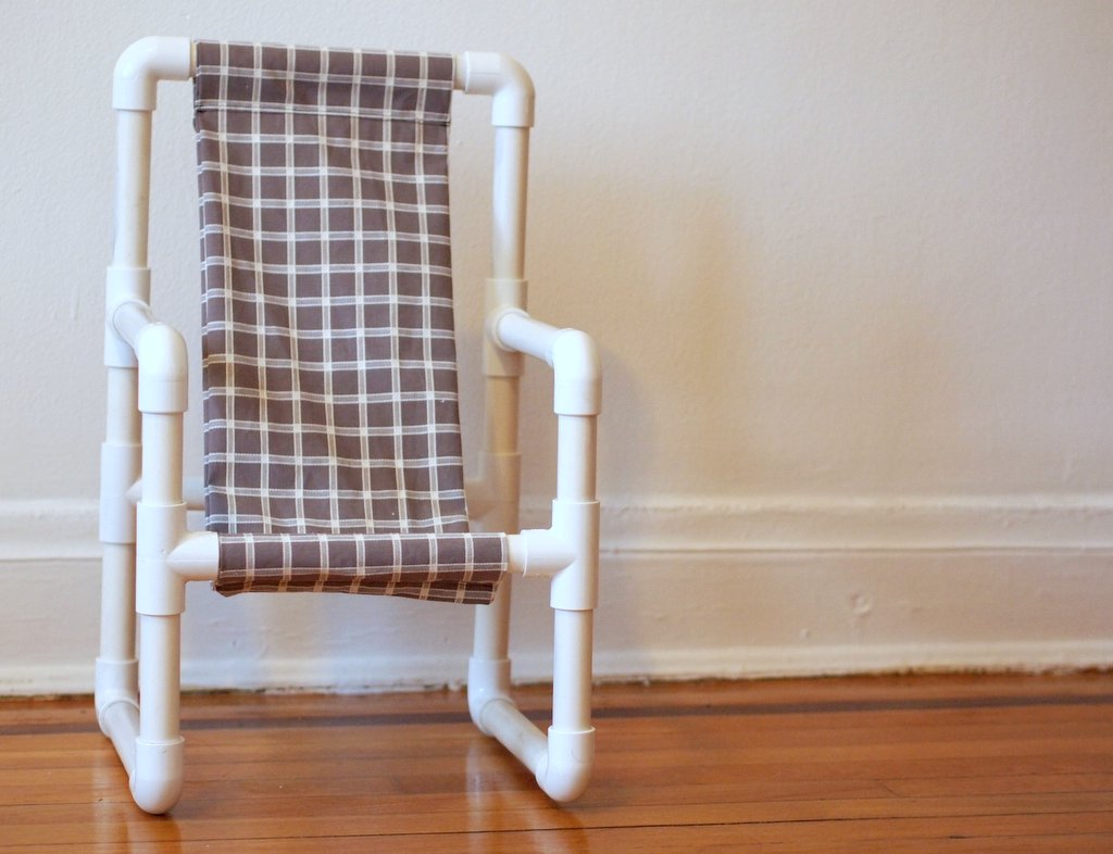 Amazing photo of Chairs Made Out Of PVC Pipe likewise PVC American Girl Doll Chair  with #915B3A color and 1024x786 pixels