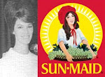 Me, the last Sunmaid Raisin Girl