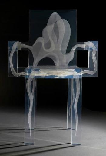 "Modern Futuristic Transparent Seat ""Ghost Chair"""