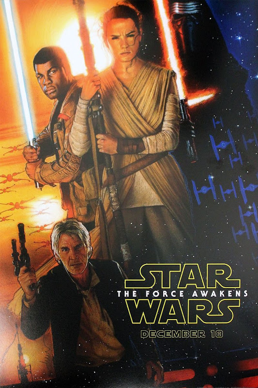 Star Wars Force Awakens Drew Struzan D23 poster