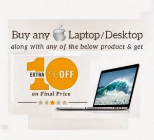 Snapdeal: Buy Any Apple Laptops or desktops with listed products & Get 10% off in final bill