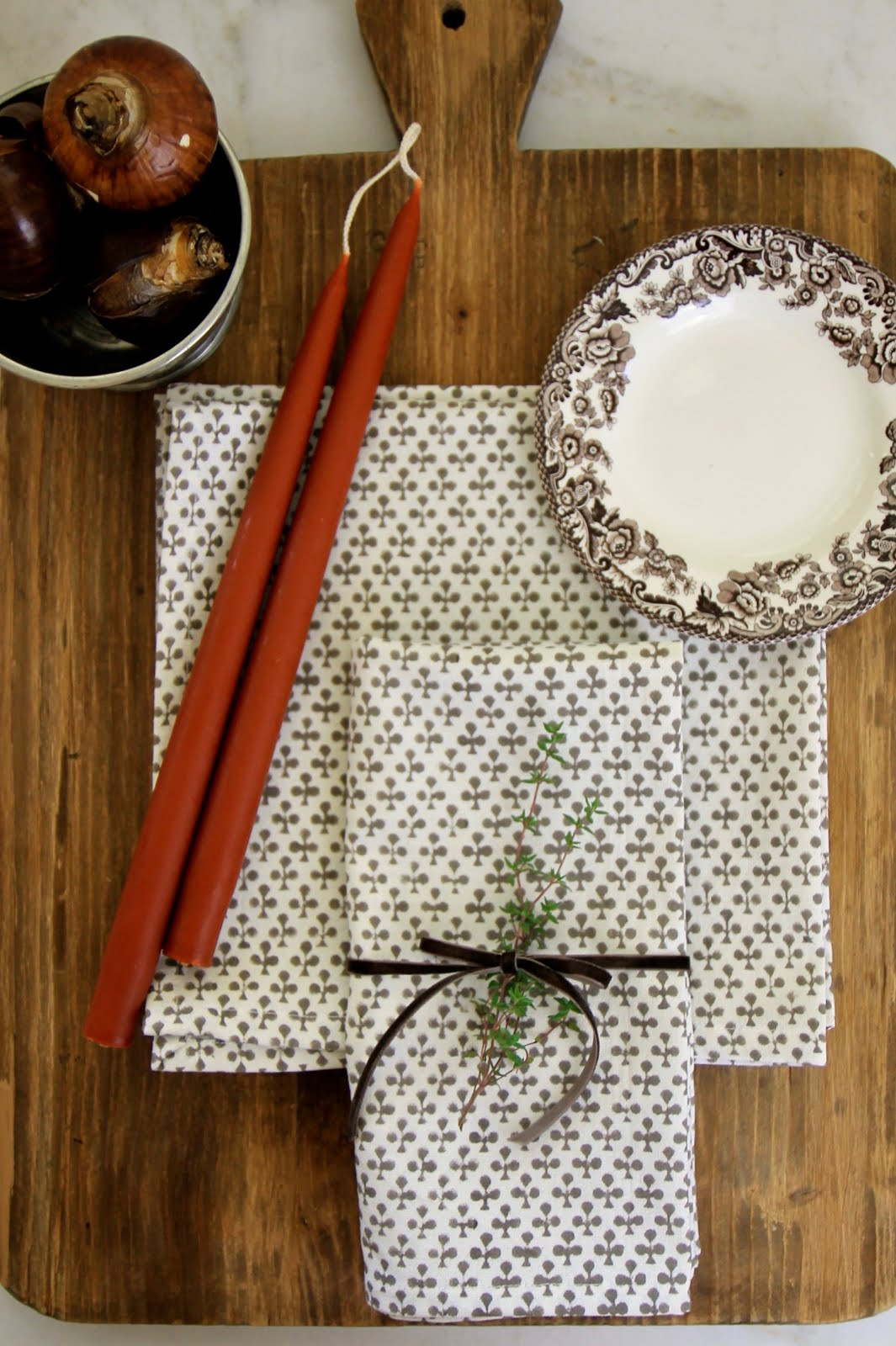 Block Print Napkins, 4 for $32