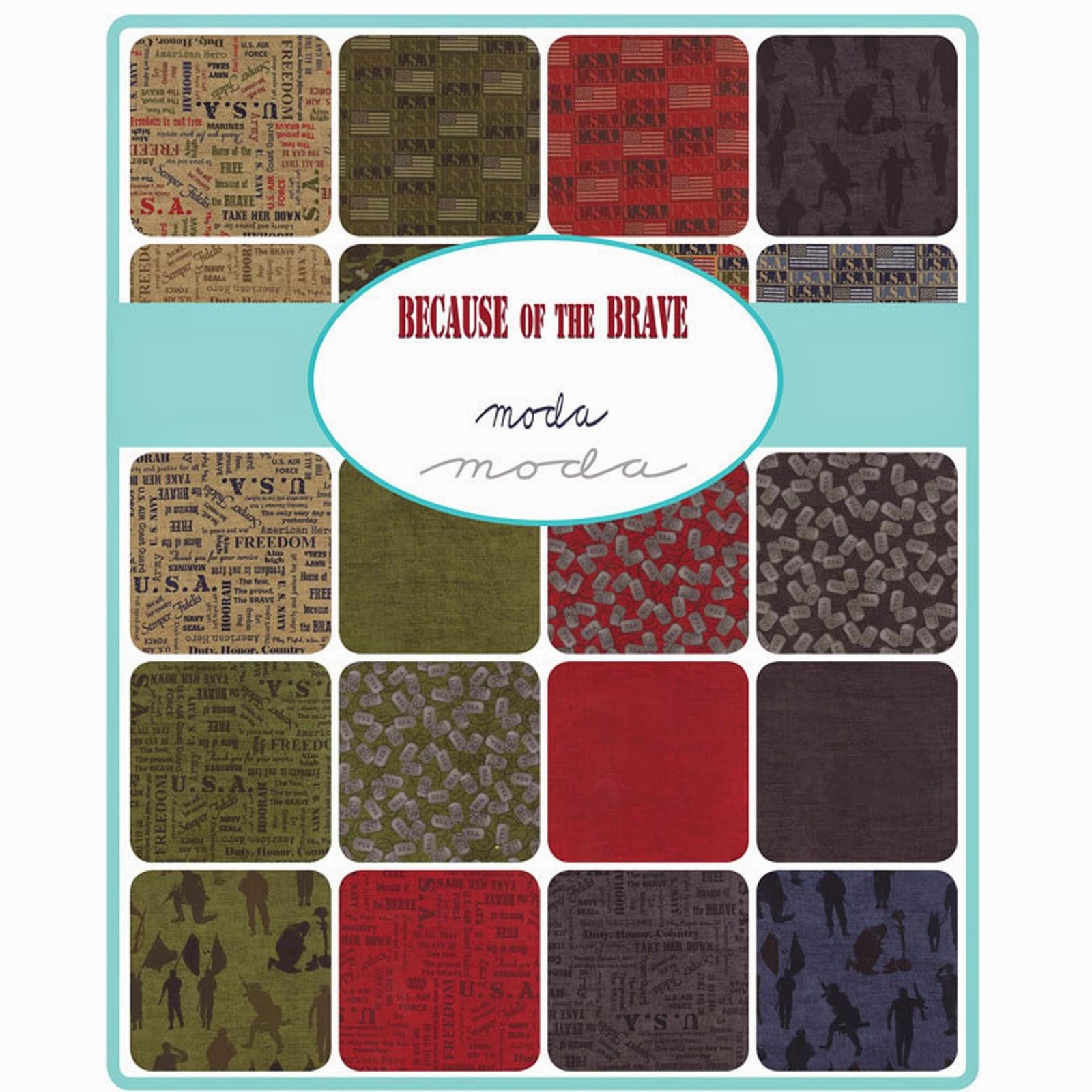 Moda BECAUSE OF THE BRAVE Fabric by Moda Fabrics