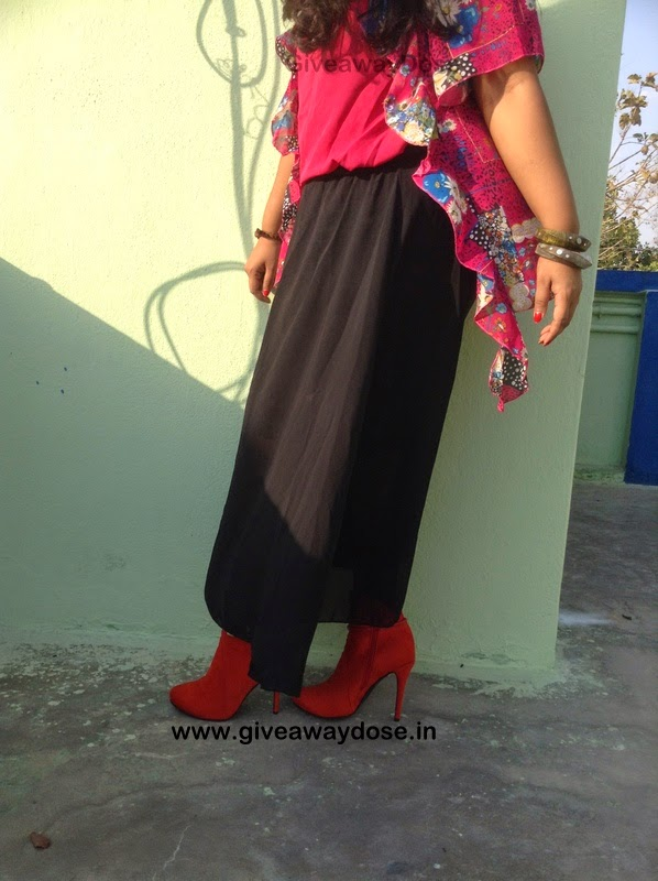 giveaway dose ootd maxi skirt layered blouse