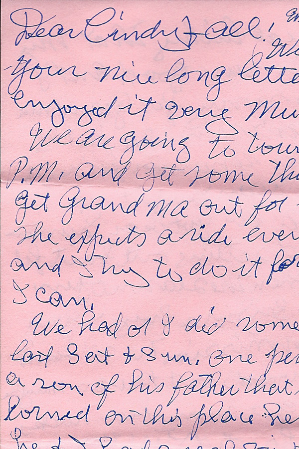 In My Life: Amanuensis Monday: Letter From Grandpa Harley 1984