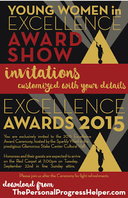 Young Women in Excellence Award Show Invitations customized with your details