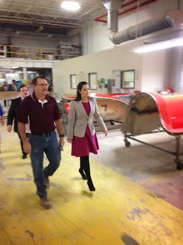 Elise Stefanik at Industrial Center in Plattsburgh