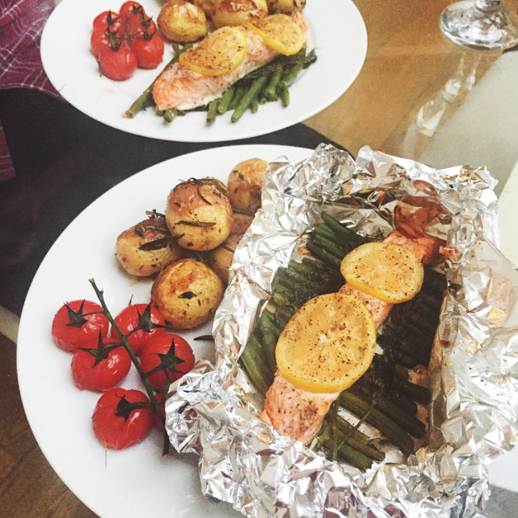 Sweet Monday, UK lifestyle blogger, oven baked trout, lemon trout, baked fish, trout parcels