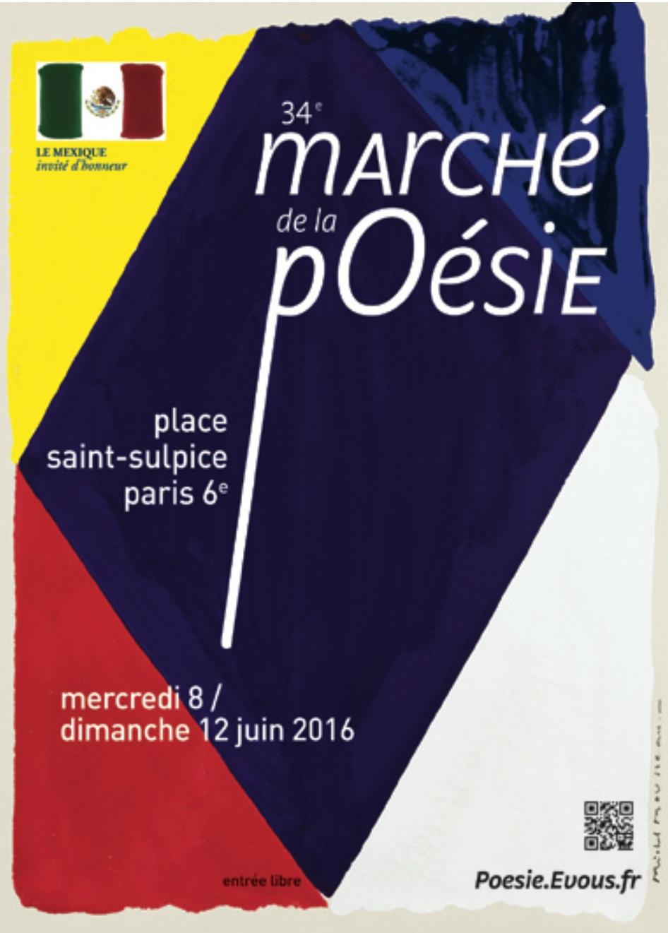 ÉDITIONS LE CADRAN LIGNÉ au Marché de la poésie, Samedi 11 juin et Dimanche 12 juin 2016
