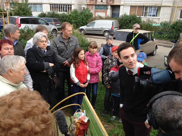 жители Птицеграда пригласили съёмочную группу федерального канала ТВЦ Сергиев Посад