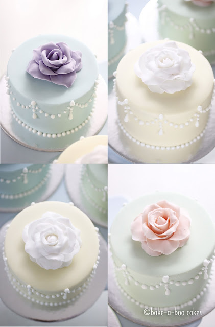 bakeaboo Romantic rose mini cakes