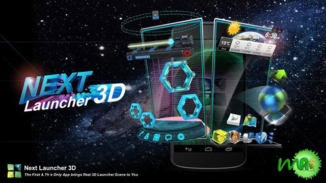 Next Launcher 3D Android 3.0 APK