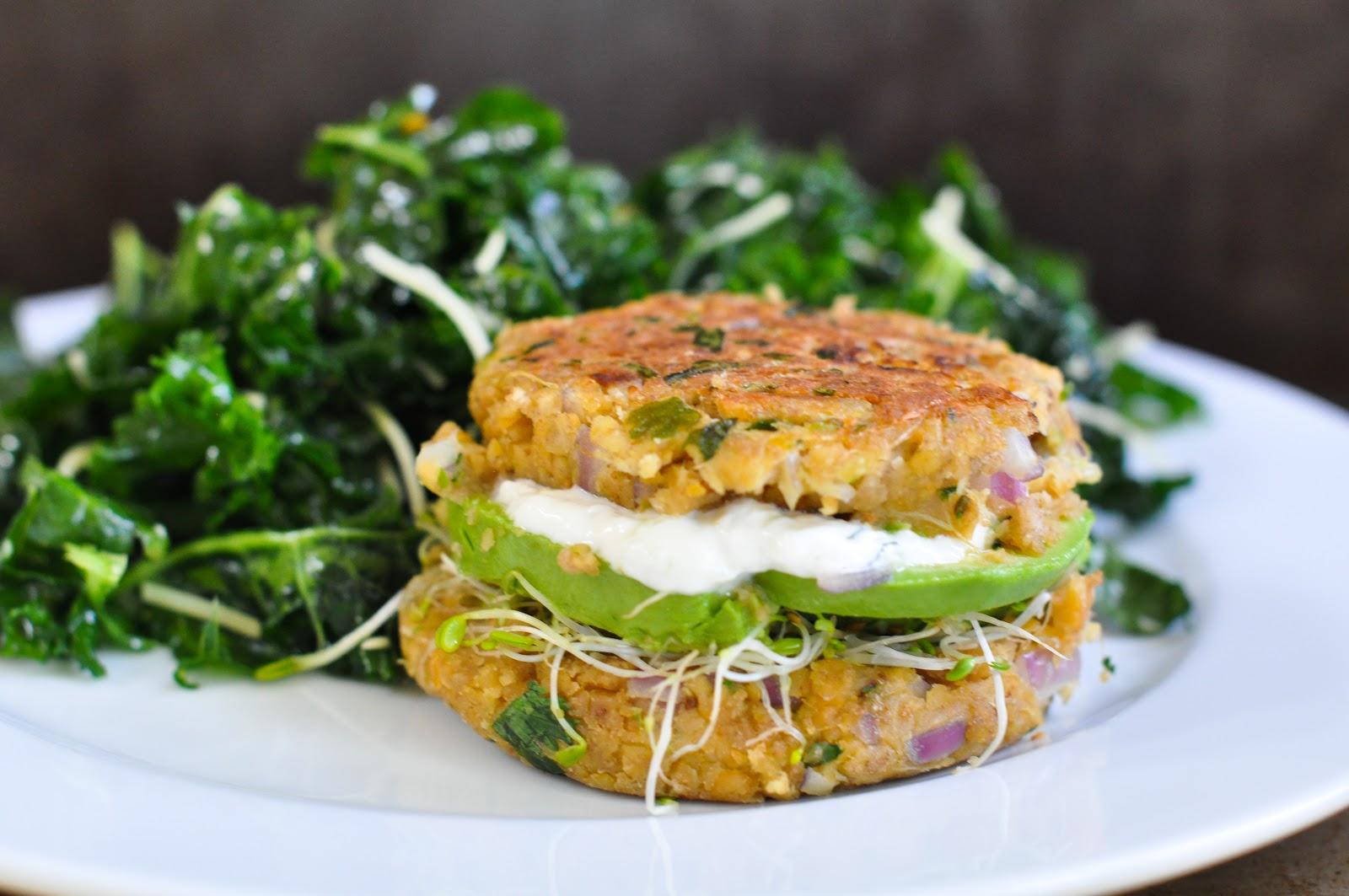 chickpea veggie burgers & tzatziki yogurt sauce - Marin Mama Cooks