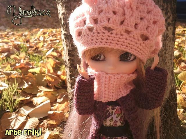 pullip banshee crochet hat ganchillo gorro doll clothes