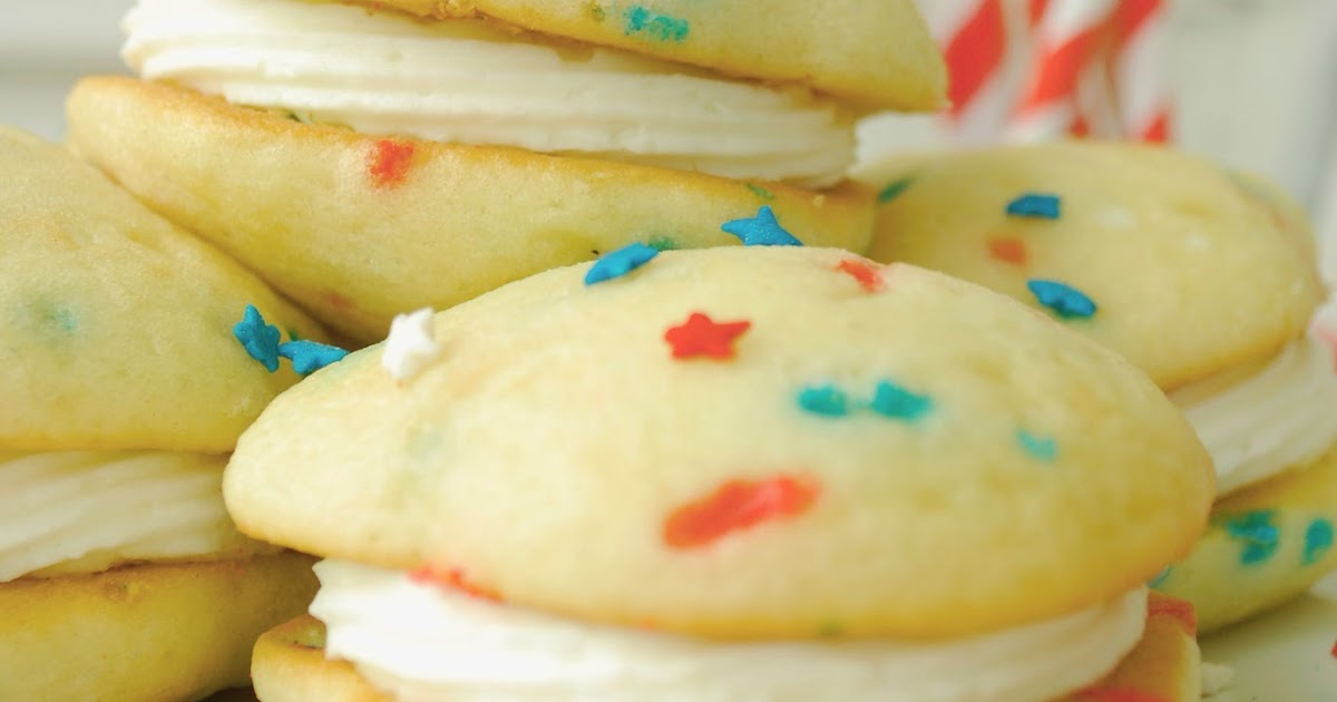 Funfetti Whoopie Pies Made With Boxed Cake Mix