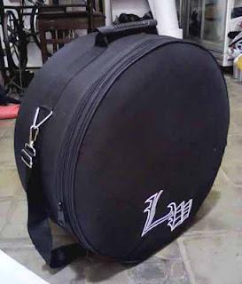 Tas Snare dan Cymbal 14 inch custom bidang logo di  depan