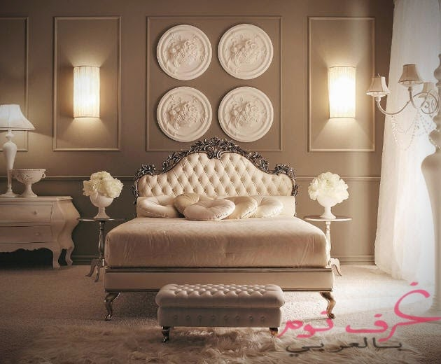 غرف نوم كلاسيكية للعرسان | مجلة | غرف نوم