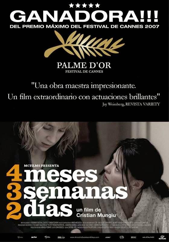4 meses 3 semanas y dos días máxima ganadora Cannes 2007