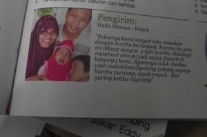 Dimuat di Majalah Sedap