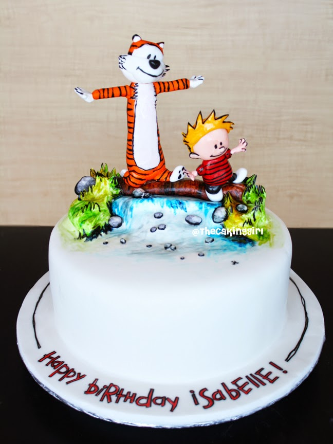 beautiful Calvin and Hobbes Cake