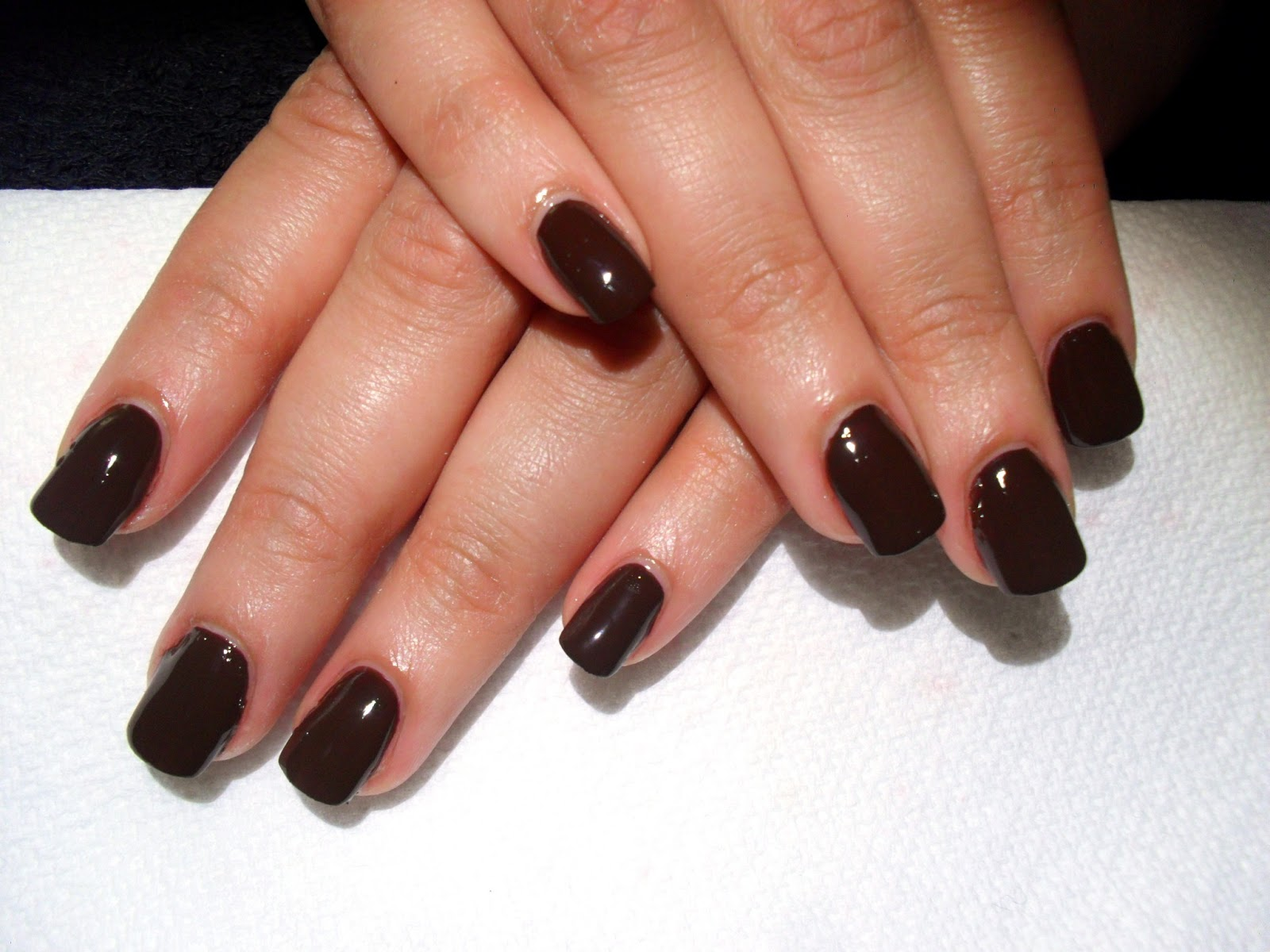 Ash-Lilly\'s Lacquer Lust: Maybelline\'s Chocolate Frost on gel nails