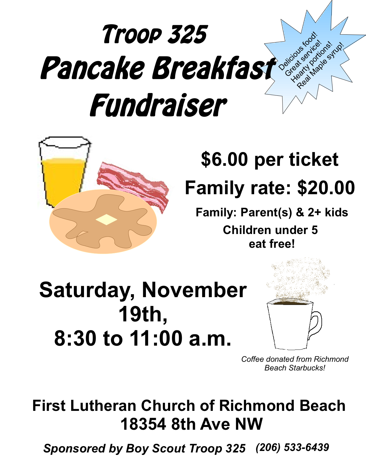 pancake breakfast fundraiser flyer template – Fundraiser Flyer Template