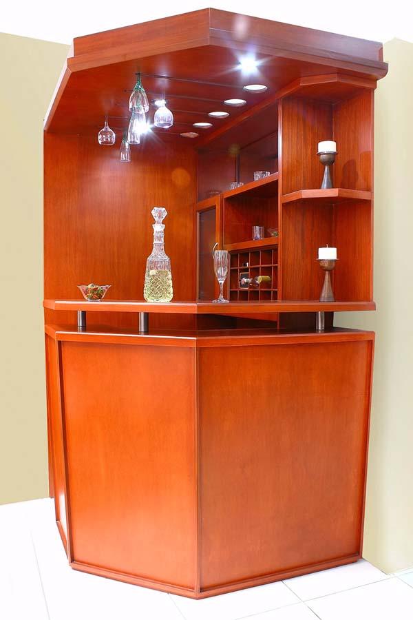 Bibliotecas jorge urueta for Bar madera esquinero