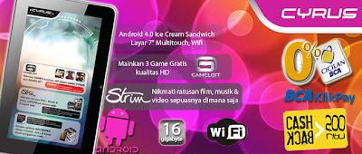 Spesifikasi Review Harga CYRUS Atom Pad 16GB
