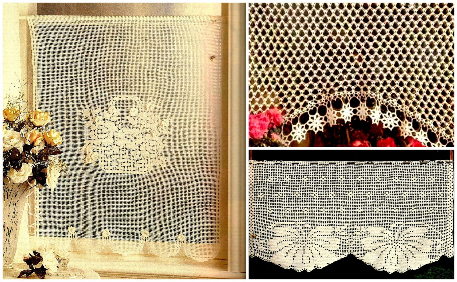 Mallorca handmade visillos de ganchillo crochet - Como hacer visillos ...
