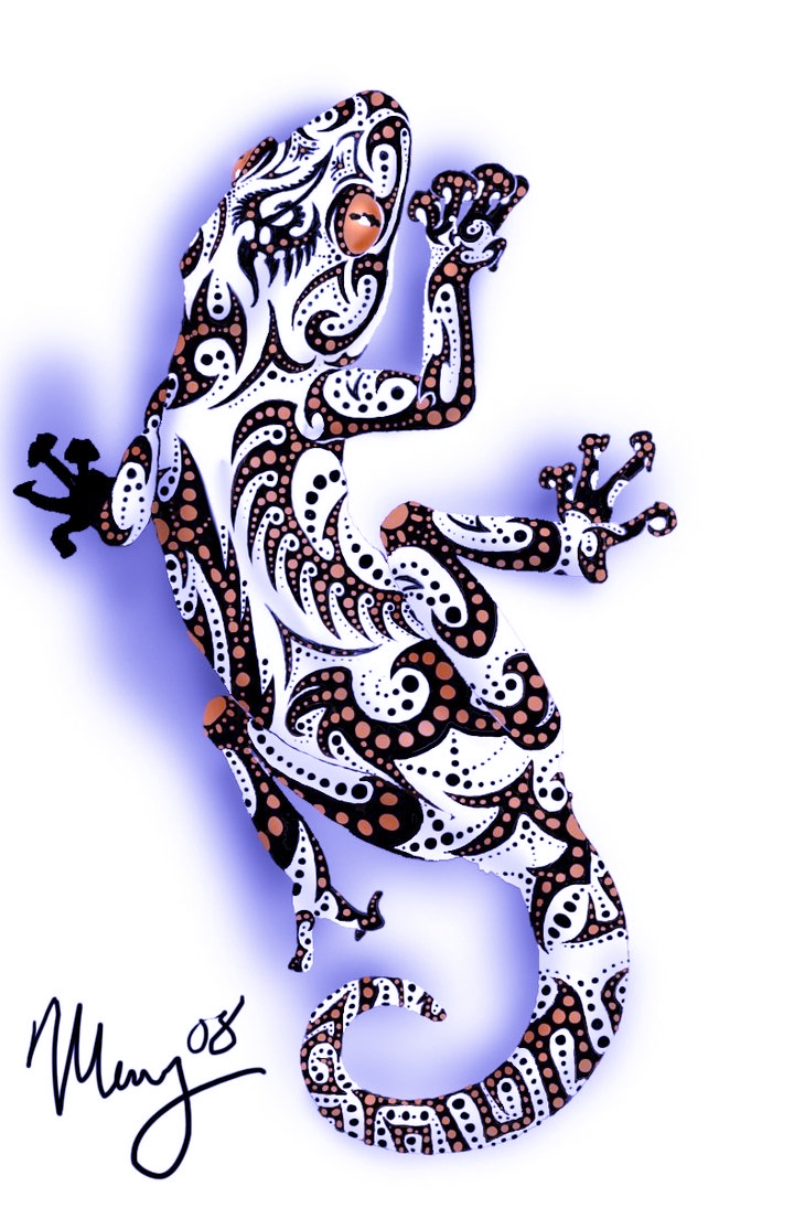 Lagarto Maori Tattoo Maori