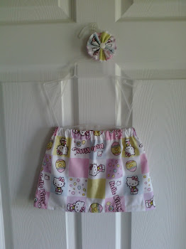 Hello Kitty Easter Skirt and Bow