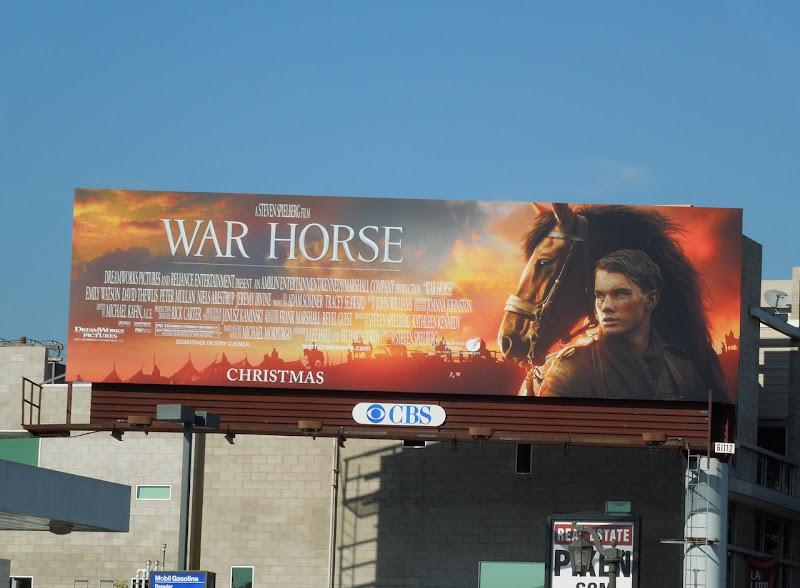 War Horse movie billboard