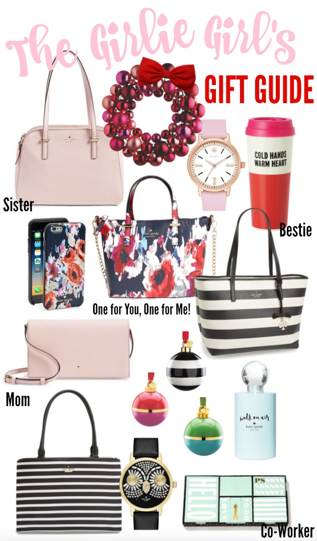 The Girlie Girl's Gift Guide - Kate Spade holiday shopping! xoxo
