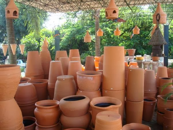 mini jardins orientais:Lindos vasos de cerâmica para pintar.