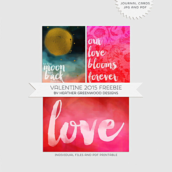 "Valentine Pocket Pages Valentine Freebies | 3""x4"" and 6""x4"" filler cards"